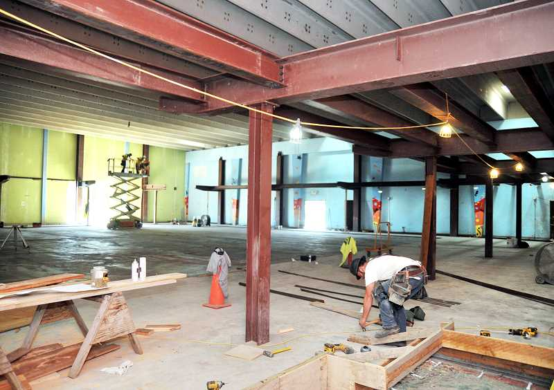 GARY ALLEN - Renovation of the CPRD pool into a gymnasium and fitness center is progressing quickly, including the steel structure that will support an elevated walking track, but a backlog of HVAC equipment could delay completion until December or later.