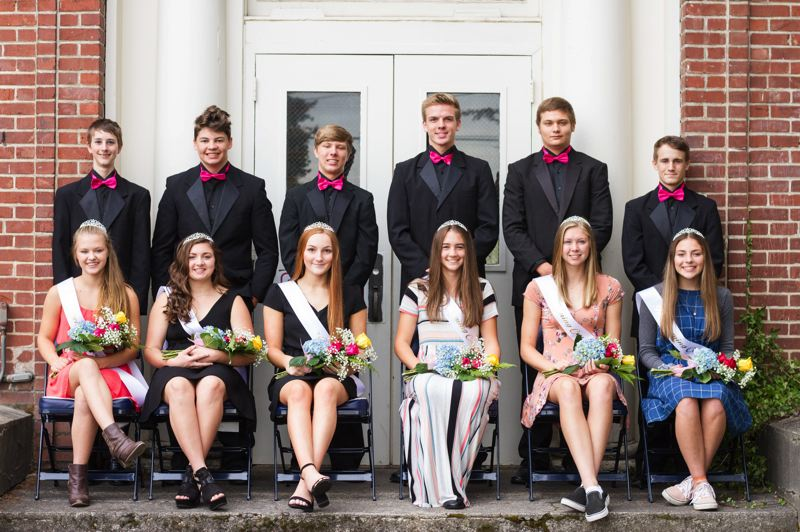 BHS YEARBOOK. - The princesses for this year's homecoming at Banks High School were announced Monday, Oct. 1.