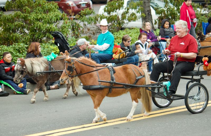 OUTLOOK PHOTO: CHRISTOPHER KEIZUR - Oregon Equestrian Trails horses were a big hit during the parade.