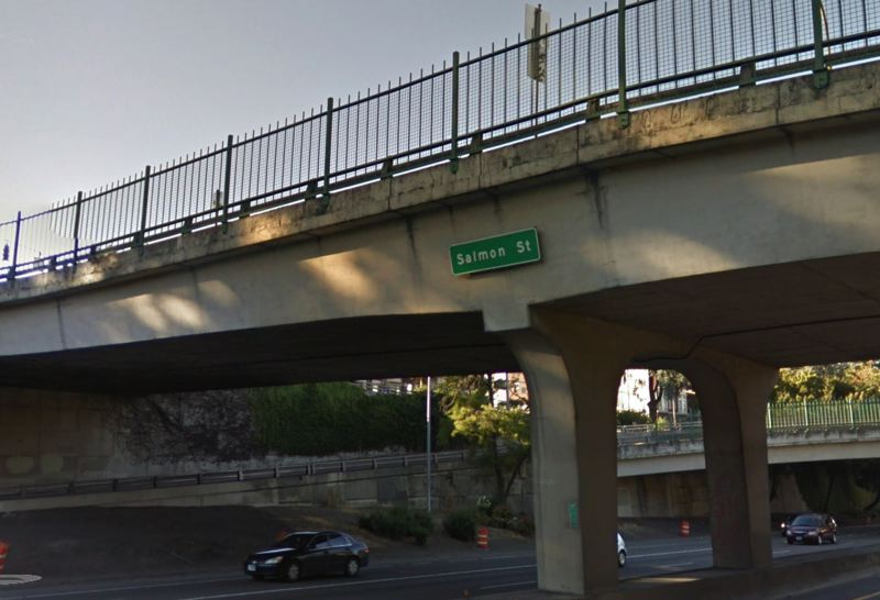 COURTESY GOOGLE MAPS - The Southwest Salmon Street overpass above Interstate 405 is shown here.