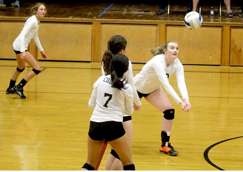 STEELE HAUGEN - Madison Miller hustles to make a play during Culver's 3-0 win over Western Christian.