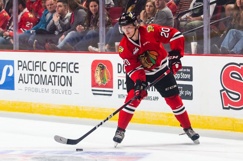 COURTESY: BEN LUDEMAN/PORTLAND WINTERHAWKS - The return of Joachim Blichfeld from San Jose Sharks training camp has bolstered the Portland Winterhawks' top line already this Western Hockey League season.