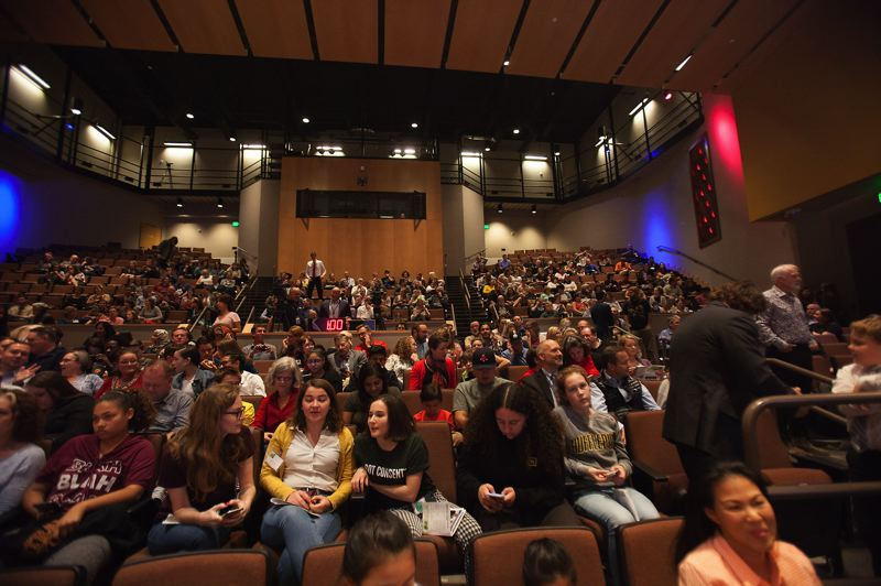 PAMPLIN MEDIA GROUP: JAIME VALDEZ - A large audience at Roosevelt High School gathered for the first televised gubernatorial debate of the 2018 election.