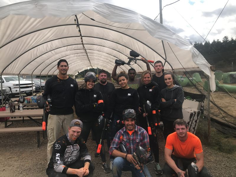 COURTESY: R&H CONSTRUCTION - R&H Constructions employee health and wellness initiatives include teambuilding exercises like paintball.