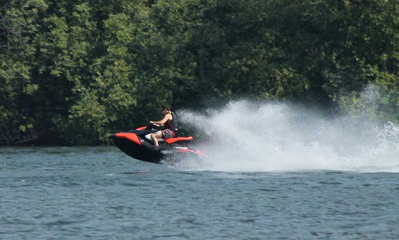 TIDINGS FILE PHOTO - Residents on the river have to adjust to the reality of noise from Jet Skis and other watercrafts.