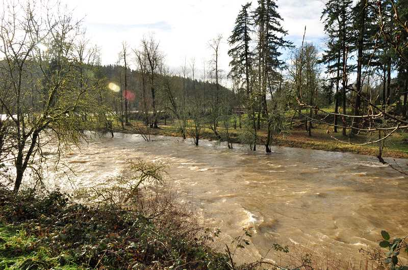 TIDINGS FILE PHOTO - Living along the river means dealing with constant changes to your property — especially when floods take place.