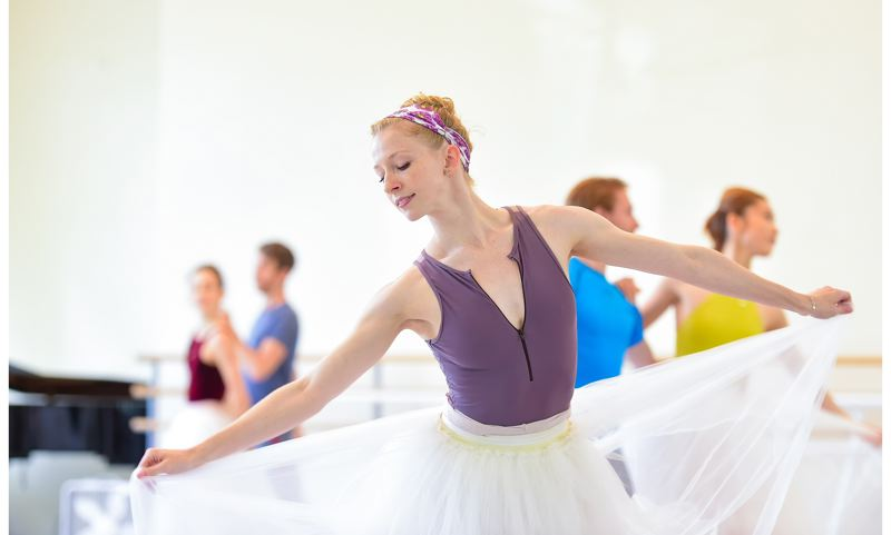 COURTESY: YI-YIN/OBT - Oregon Ballet Theatre company artist Jessica Lind was schooled in Bournonville ballet three years ago, and returns for 'Napoli.'