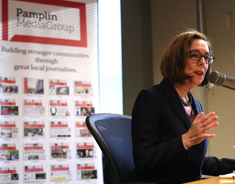 PAMPLIN MEDIA GROUP FILE PHOTO - Gov. Kate Brown has raised nearly $8 million in what could be the most expensive governor's race in Oregon history.