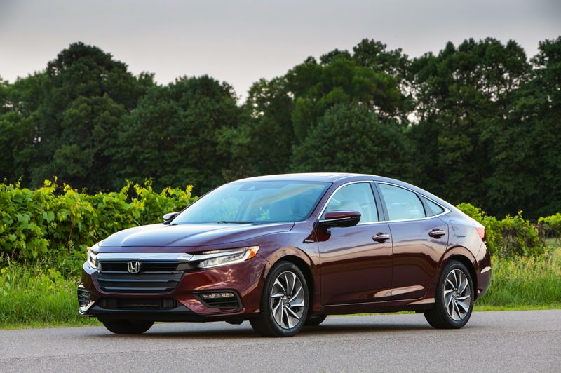 HONDA NORTH AMERICA - The 2019 Honda Insight is a stylish, good-riding compact sedan that gets an EPA estimated 48 miles per gallon.