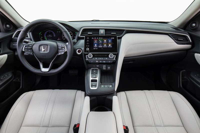HONDA NORTH AMERICA - The interior of the 2019 Honda Insight is well designed and can be outfitted with high quality materials that provide a luxury feel.