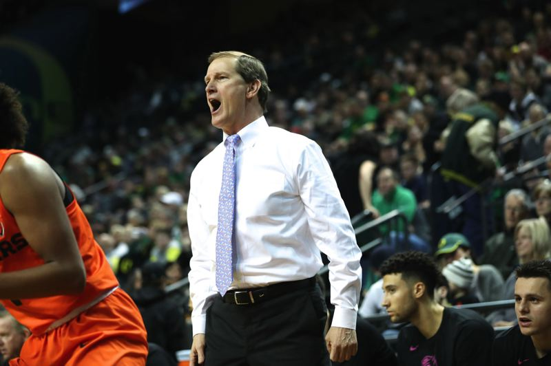 TRIBUNE FILE PHOTO: JAIME VALDEZ - University of Oregon men's basketball coach Dana Altman will be reloading this year around a batch of highly rated recruits.