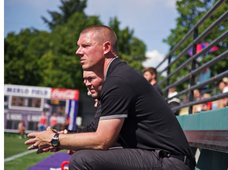 COURTESY: SAM ORTEGA/PORTLAND TIMBERS 2 - Coach Cameron Knowles watches Portland Timbers 2 play in a recent United Soccer League game.
