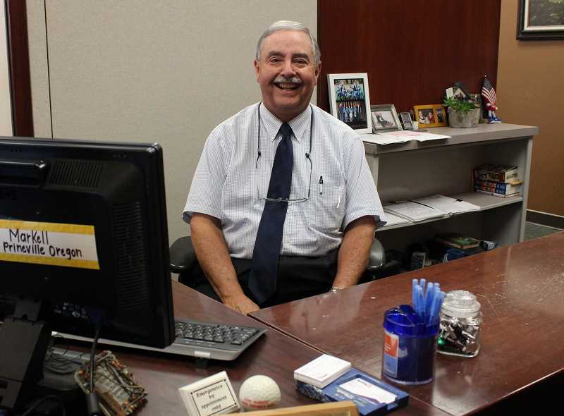 HOLLY SCHOLZ/CENTRAL OREGONIAN  - Steve Markell began his banking career in 1970 when he was a senior in high school. He's spent the last 21 years as a commercial lender with the U.S. Bank Prineville branch and will retire at the end of the month.