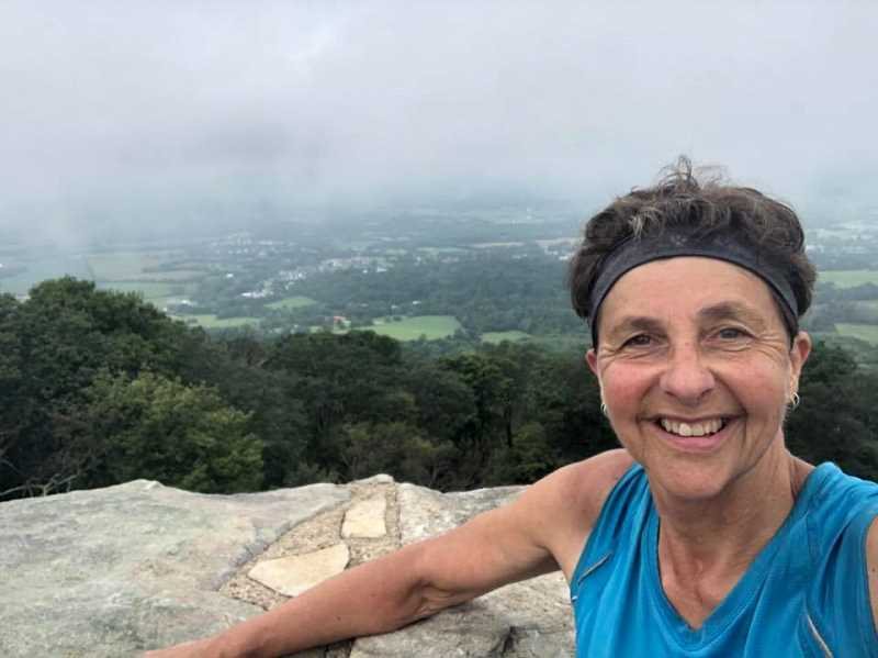 COURTESY PHOTO - Colton's Carol Wilson as she hikes the Appalachian Trail in search of becoming a 'triple crowner' in hiking circles.