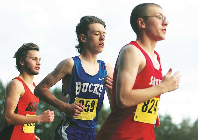 PHIL HAWKINS -- WOODBURN INDEPENDENT - St. Paul sophomore Broden Lear posted his second-best time of the season (18:01.30) in a seventh-place finish at Stayton Middle School on Thursday.