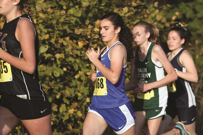 PHIL HAWKINS - Senior Rachel Vela has knocked more than 90 seconds off her season-opening time this season, leading the Bucks with a 17th-place finish in 23:24.90 at Stayton Middle School on Thursday.