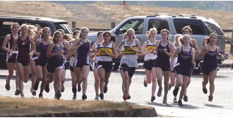 ARCHIVE PHOTO: TANNER RUSS - The Canby girls varsity team took sixth at the Flat and Fast Invitational.