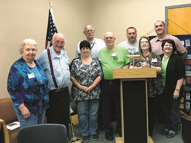 PIONEER PHOTO: CAROL ROSEN - Molalla Kiwanis installed its new officers on Sept. 26.