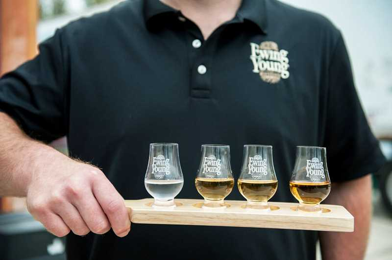 SUBMITTED PHOTO - Ewing Young Distillery is now open with a temporary wine tasting tent erected adjacent to the facility on Highway 240. The distillery's first-ever Whiskey Festival is set for Oct. 13 on the 145-acre horse farm.