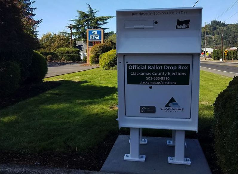 CONTRIBUTED PHOTO - A new ballot dropbox was installed in Boring at the end of September.