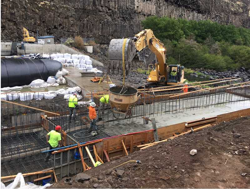 SUBMITTED PHOTO - Construction of the $10.7 million fish ladder is expected to be completed in late 2019.
