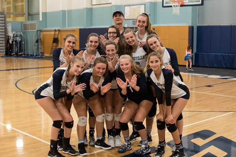 SUBMITTED PHOTO: GREG ARTMAN - The Wilsonville Wildcats volleyball team