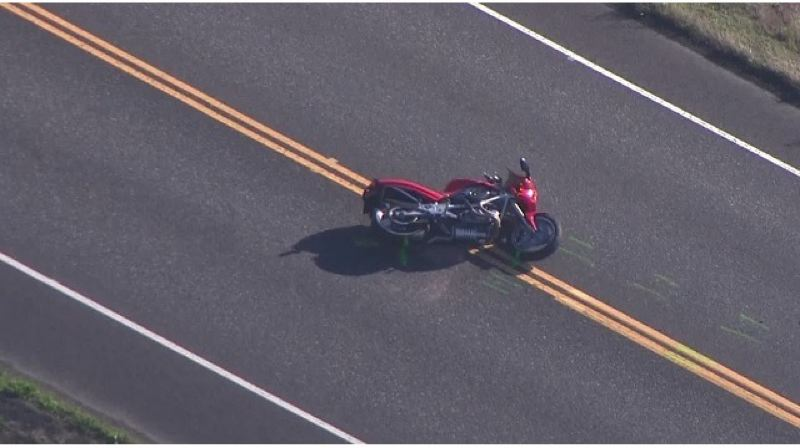 KOIN 6 NEWS - The motorcycle involved in the Oct. 10 crash.