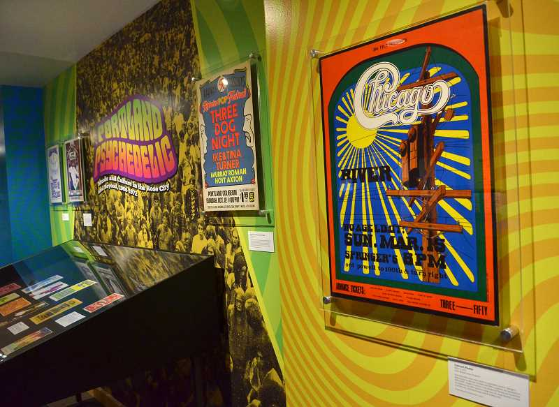 REVIEW PHOTO: VERN UYETAKE - 'Portland Psychedelic' features posters from many of the concerts that Peter Glazer attended in the 1960s and early '70s, including Chicago, Three Dog Night and lots more.
