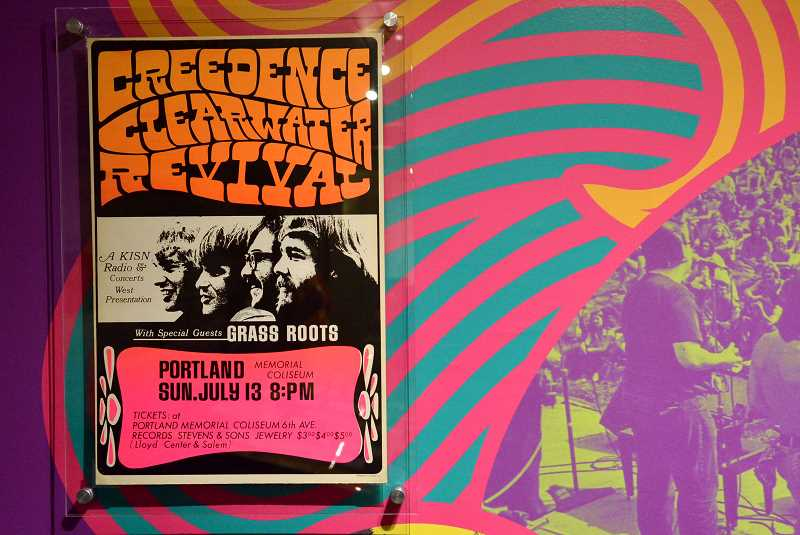 REVIEW PHOTO: VERN UYETAKE - With more than 100 pieces of memorabilia donated by Lake Oswego attorney Peter Glazer, 'Portland Psychedelic' takes museum-goers on a groovy trip through the area's musical past.