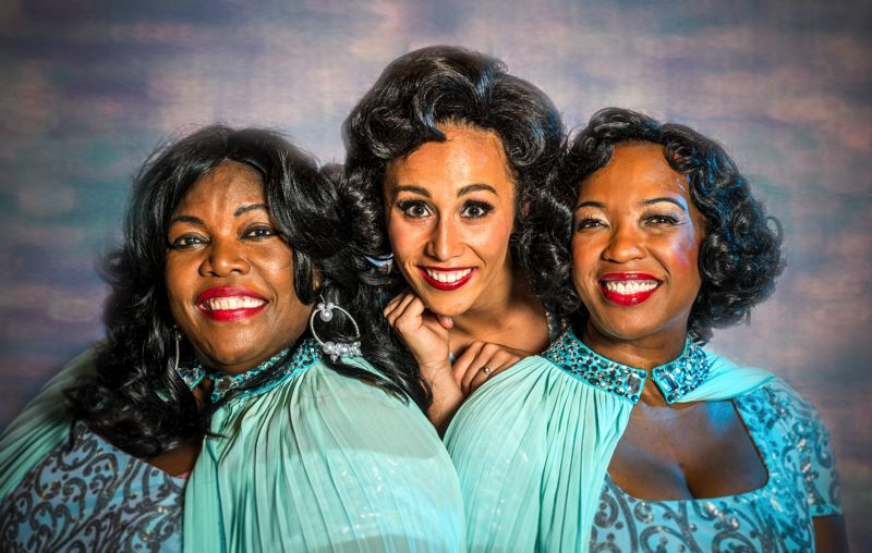COURTESY: PAUL FARDIG - 'Dreamgirls' stars are (from left) Julianne Johnson-Weiss, Shahayla Ononaiye and Kristin Robinson. Johnson-Weiss says it's a musical that 'really rings home' because of her character's questioning whether to 'be a part of a family rather than worry about her own career.'