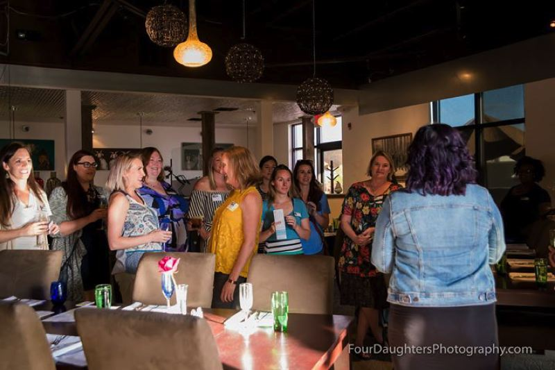 PHOTO COURTESY OF FOUR DAUGHTERS PHOTOGRAPHY AND MOB NATION - A group of women take part in a MOB Nation meetup in Bend. A Columbia County chapter of the group recently opened and will host a meetup on Tuesday, Oct. 16, at 6 p.m. at Jubilee Collective in Scappoose.