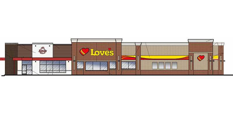 SUBMITTED ILLUSTRATION - Love's Travel Stop is moving forward with its Madras plans, along with Dollar General and My Place Hotel.
