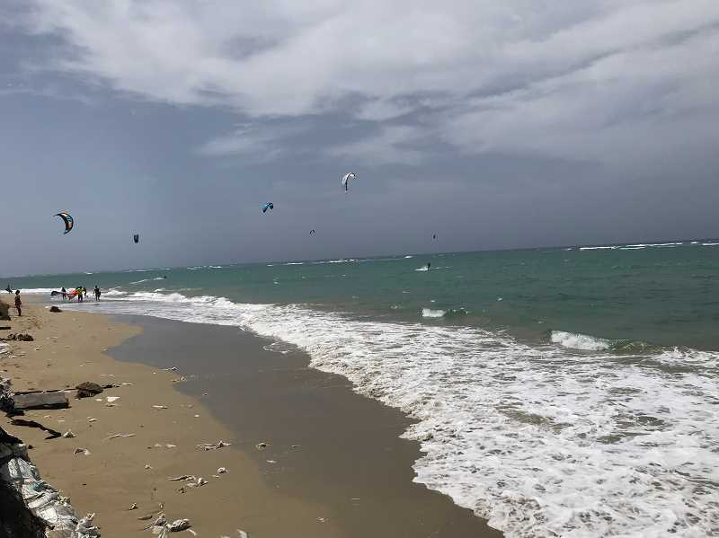 COURTESY: MAYA BEDGE - Bedge's family brought her to Cabarete, a beach town known for kite surfing.