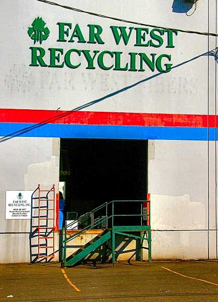 RITA A. LEONARD - Far West Recycling has already closed its two recycling stations accessible to Inner Southeast. This one was in the industrial part of the Reed neighborhood, on S.E. 26th Avenue, just south of Holgate.