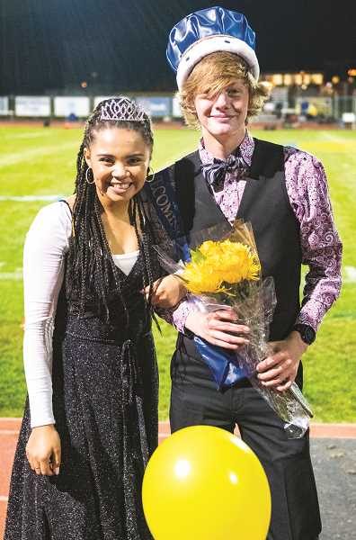 LON AUSTIN/CENTRAL OREGONIAN  - Senior Queen Lyndee Walker  and senior King Miles Chaney were crowned.