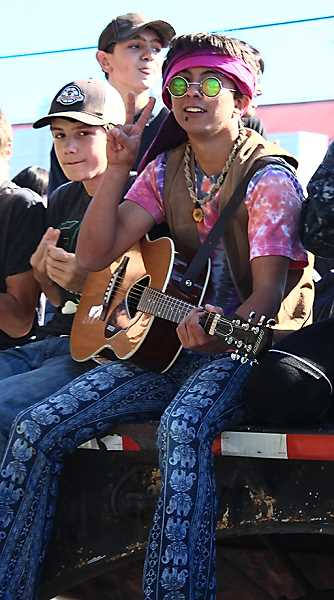 HOLLY SCHOLZ/CENTRAL OREGONIAN  - Students dressed in decades themes during homecoming spirit week.