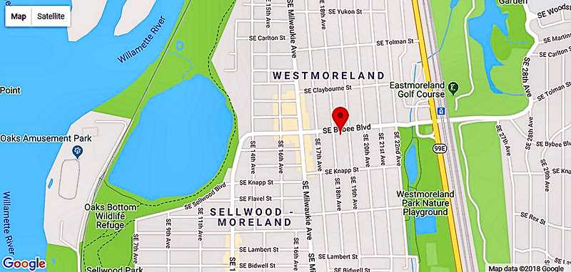 COURTESY OF GOOGLE MAPS - This screenshot suggests even Google is struggling with figuring out Sellwood-Moreland; neither Sellwood nor Westmoreland can be happy with this solution!