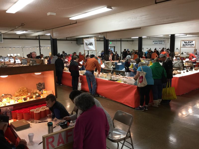 SUBMITTED PHOTO - Visitors to last year's Gem & Rock Show had a variety of things to look at, including demonstrations, display cases and vendors offering rare items for sale.