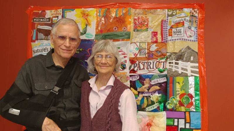 TRIBUNE PHOTO: JENNIFER ANDERSON - Jeanne and Dick Roy celebrate their retirement this month from 25 years of sustainable work in the city. An Oct. 26 event will honor their achievements and raise funds for the Eco School Network moving forward.