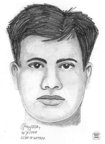 SUBMITTED PHOTO: CLACKAMAS COUNTY SHERRIF'S DEPARTMENT - This is a forensic sketch of a suspect in the Memorial Park shooting case.