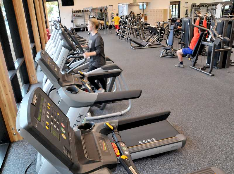 GARY ALLEN - Student take advantage of the cardio deck and weight room at the recently opened Hadlock Center at GFU.