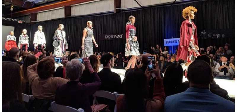 YI YIN PHOTOGRAPHY - Maddie Iverson's creations move down the runway at FashionNXT.
