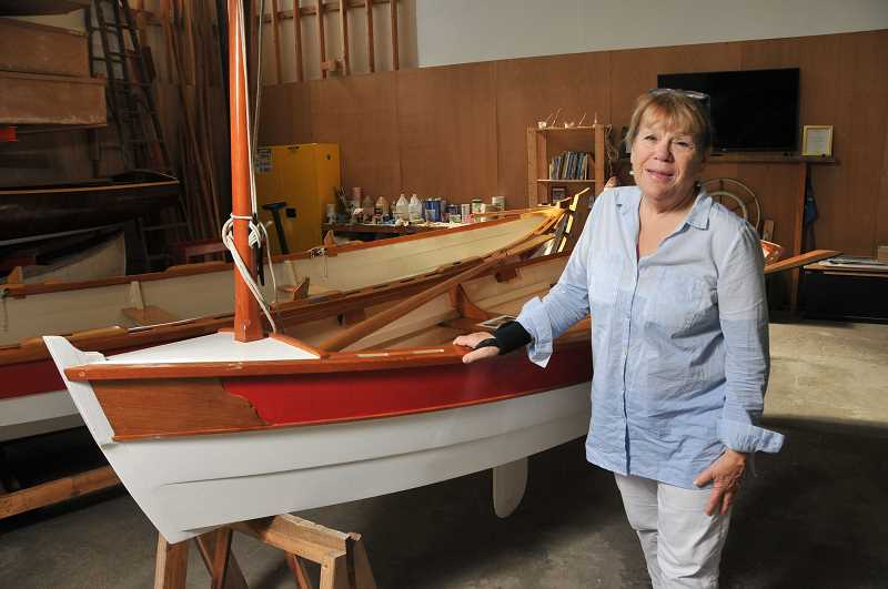 STAFF PHOTOS: VERN UYETAKE  - Jann Lane of Lake Oswego is the communications and development director for Wind & Oar Boat School, which she and her husband, Peter Crim, founded.