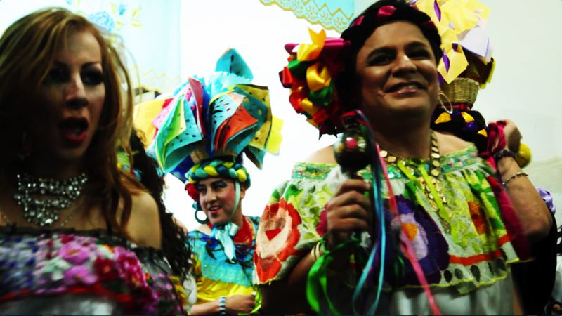 COURTESY: GENEVIEVE ROUDANE - 'The Chunta' is a light-hearted look at the Mexican cross-dressing festival. Says filmmaker Genevieve Roudane: 'It's such a fun story.'
