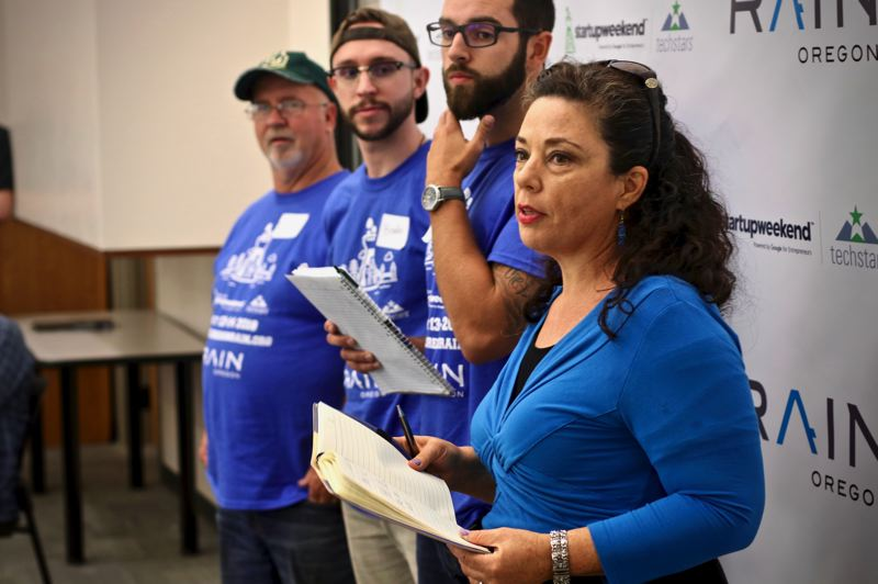 COURTESY: JOSHUA PURVIS - Entrepreneurs at the Oregon Coast Startup Weekend organized by Oregon RAIN, which helps rural startups and connects them to mentors and funding sources.
