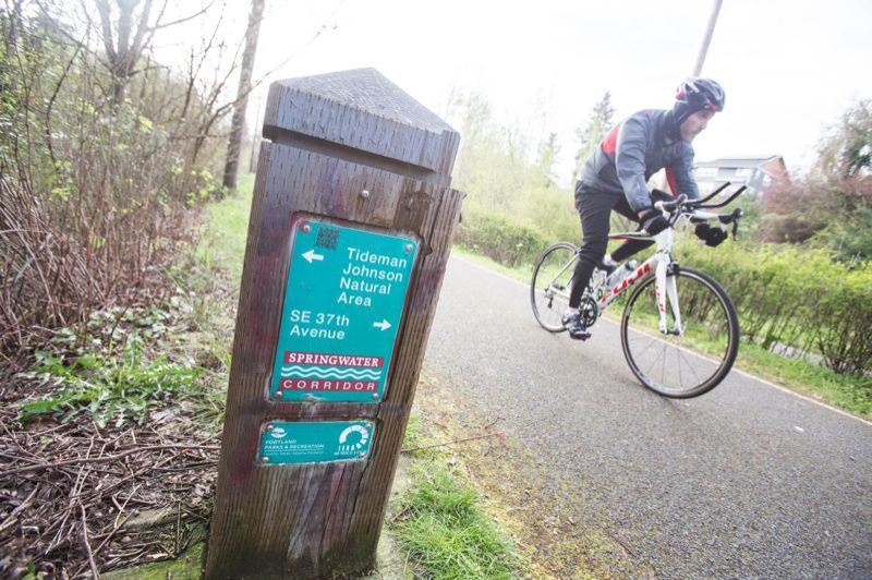 PORTLAND TRIBUNE FILE PHOTO - The Springwater Corridor Trail in Southeast Portland.