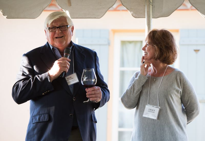 SUBMITTED PHOTO - Grace and Ken Evenstad, founding owners of Domaine Serene Winery in Dayton and owners of Chateau de la Cree in Burgundy, France, have received Wine Spectator Magazine's 2018 Distinguished Service Award for their contributions to the wine industry. m