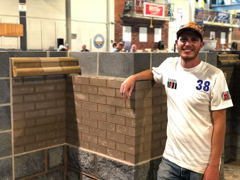 COURTESY: MATT ELEAZER - Pioneer Waterproofing apprentice Matt Botts, a member of the Bricklayers and Allied Craftworkers Local 1 Oregon, recently took first place in the pointer-caulker-cleaner category at a masonry competition held in Maryland.