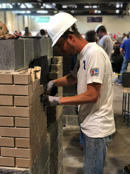 COURTESY: MATT ELEAZER - The international masonry competition required contestants to show hands-on skill as well as written knowledge.