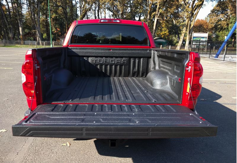 PAMPLIN MEDIA GROUP - Carrying capacity is good with the 2109 Toyota Tundra 4X4 TRD Sport, even with the short bed.